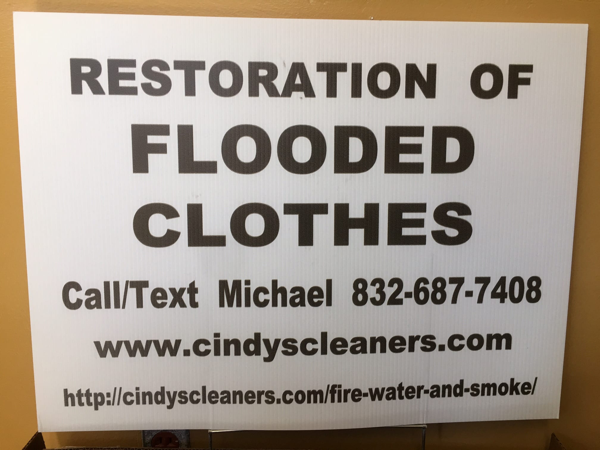 Flooded Clothes Card